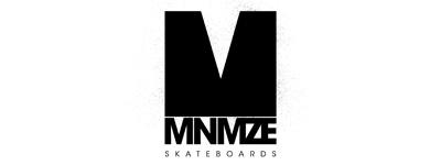 minimize skateboards logo concept