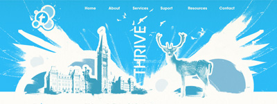 thrive canada website concept